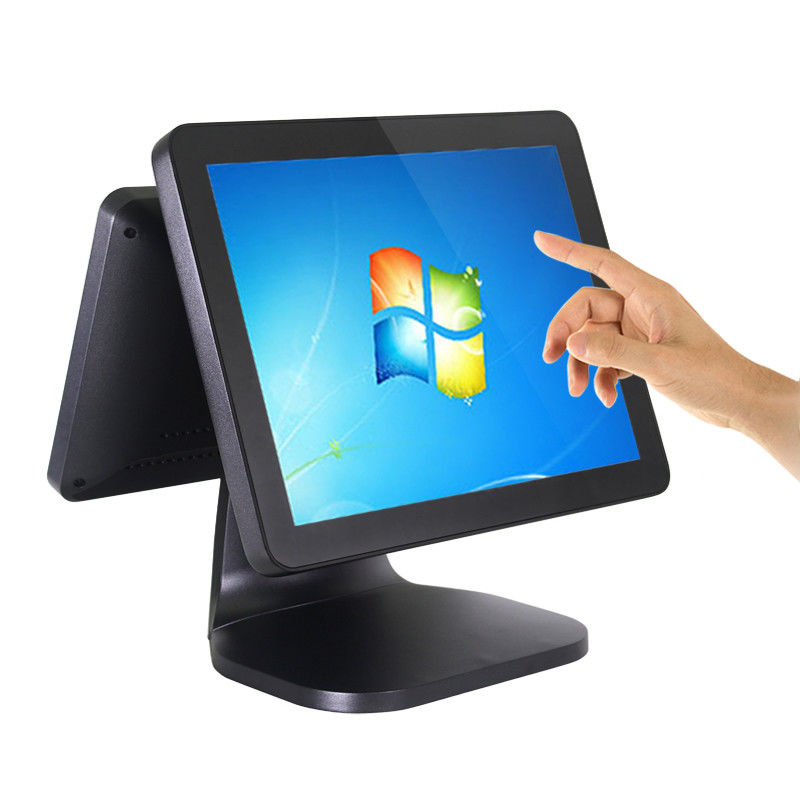 Dual Screen Retail Pos System Aluminium Alloy Case 10 Point Capacitive Touchscreen